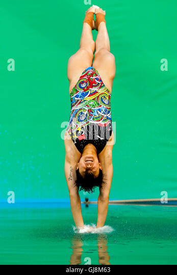 Rio de Janeiro, Brazil. 13th Aug, 2016. OLYMPICS 2016 DIVING - Tingmao Shi (CHN) during the Diving Rio Olympics - Stock-Bilder