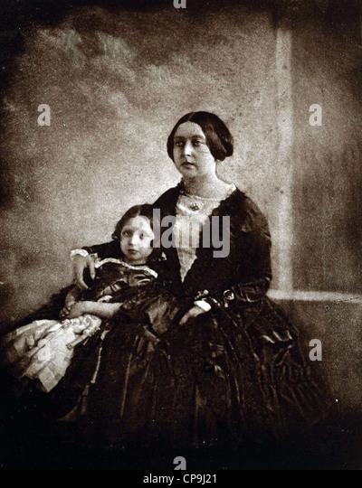 Queen Victoria, with the Princess Royal, circa 1844-5 - Stock Image
