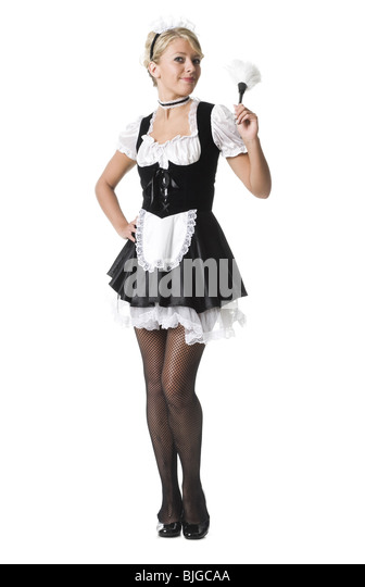Maid tan pantyhose french