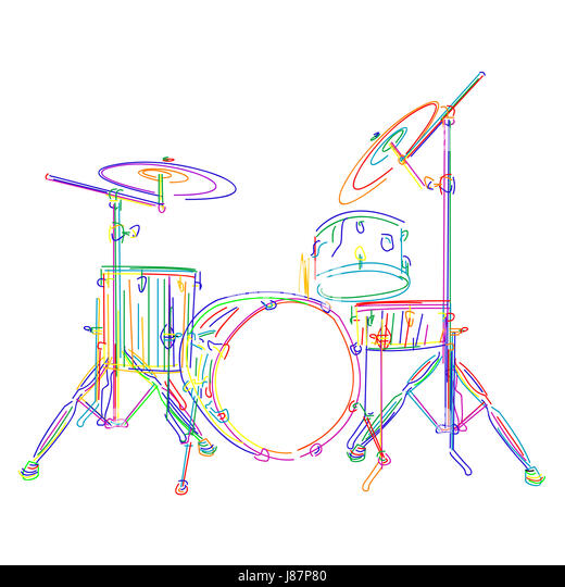Line Art Xylophone : Line drawing percussion stock photos
