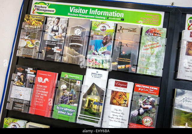 South Africa African Johannesburg Lion Park information brochures attractions tourism - Stock Image