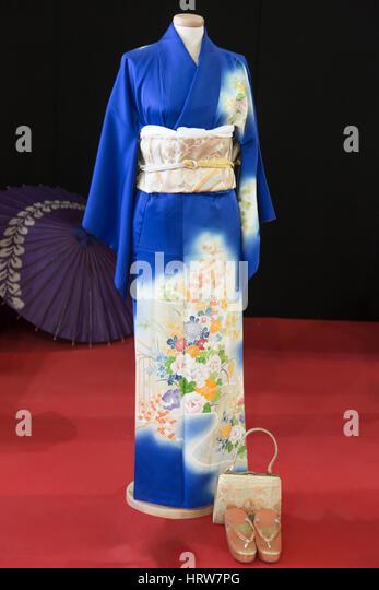 Japanese elegant informal Kimono named Komono - Stock Image