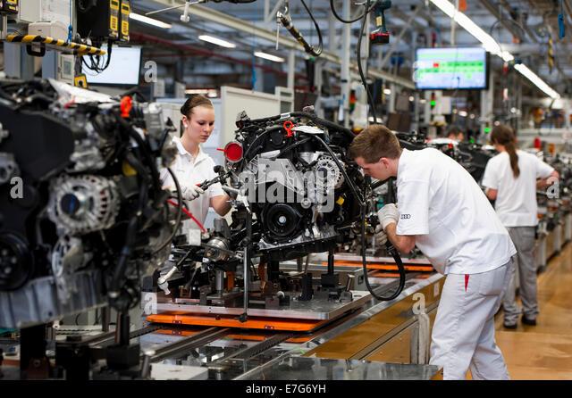 Audi Factory Ingolstadt Bavaria Stock Photos Amp Audi