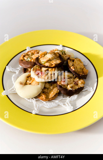 Festive chocolates with dried fruit and nuts - Stock Image