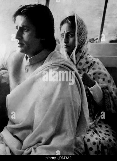 Indian bollywood actor, amitabh bachchan and Jaya Bachchan, India, Asia - Stock Image