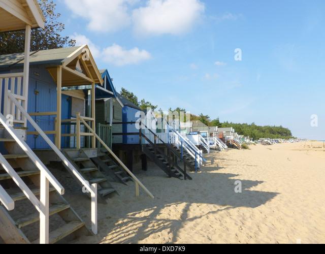 Beach huts at Wells next the Sea, Norfolk, England - Stock Image