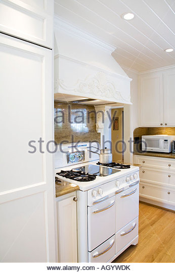 Old-fashioned Stove and Oven - Stock Image