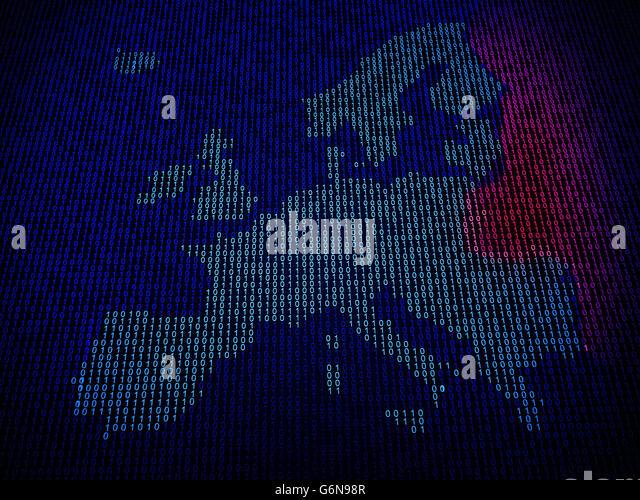 European Union in danger of hacker attacks - Stock-Bilder