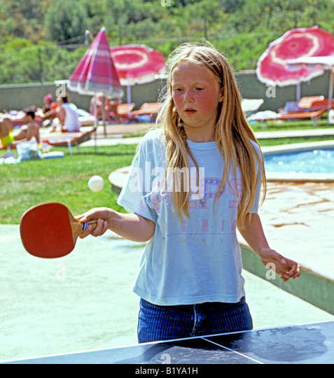 0865 Table tennis Spain Europe - Stock Image