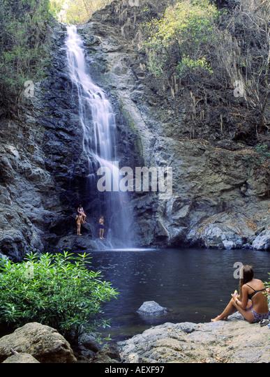 Costa Rica Montezuma Wasserfall Montezuma waterfall  - Stock Image