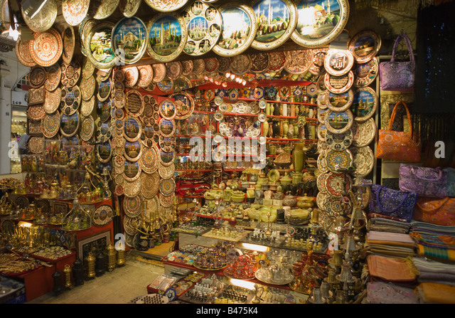 Stall at istanbul grand bazaar - Stock Image