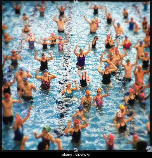 Sport Relief, National Aquatic Centre, Stratford, London - Stock Image