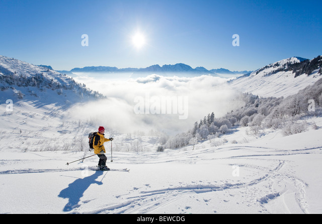 downhill, Schmittenstein, Austria - Stock Image