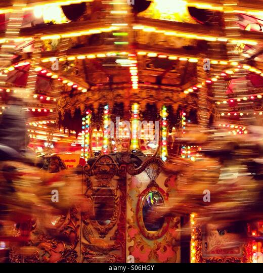 Carousel at the fair - Stock Image