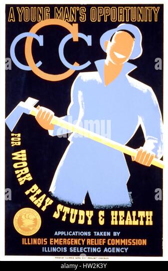 CIVILIAN CONSERVATION CORPS poster 1935 - Stock-Bilder