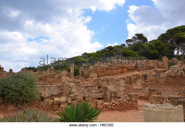 Roman Ruins, Tipaza, Algeria - Stock Image