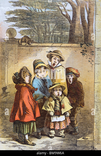 A Christmas Carol, from The Illustrated London News, illustrated by Phiz. London, England, 1855 - Stock Image