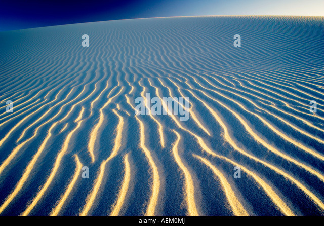 Ripples in sand dune White Sands National Monument New Mexico - Stock Image