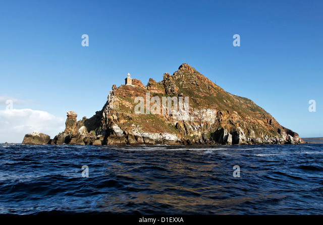 Cape Point view from sea, Cape Town, South Africa - Stock Image