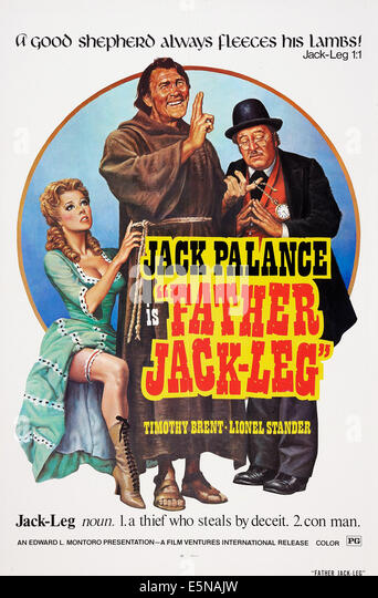 FATHER JACKLEG, (aka TEDEUM, aka STING OF THE WEST), Jack Palance (center), 1972 - Stock Image
