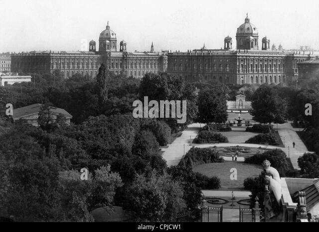 Art History and Natural History Museum in Vienna, 1931 - Stock Image