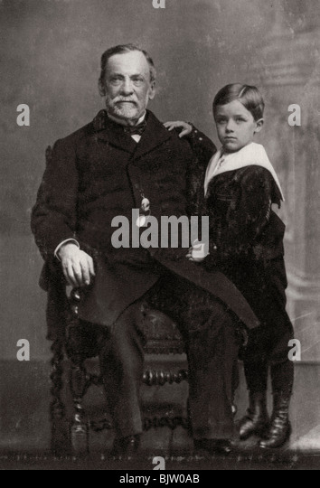 Louis Pasteur, French chemist and microbiologist, 1893. - Stock Image
