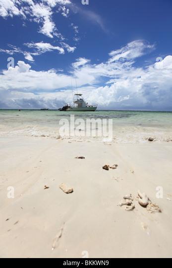 Kenya, Mombasa, East, Africa, West Kenya, boat at Diani beach - Stock-Bilder