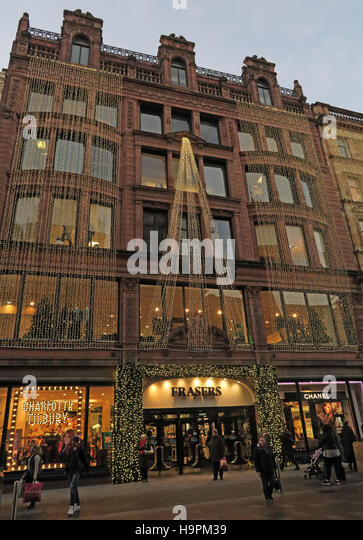 Fraser Dept Store,45 Buchanan St,Christmas,Glasgow,Scotland,UK - Stock Image