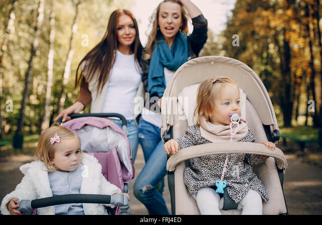 family walk in the park - Stock-Bilder