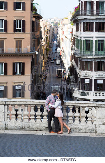 Spanish steps couple stock photos spanish steps couple for Love on the terraces