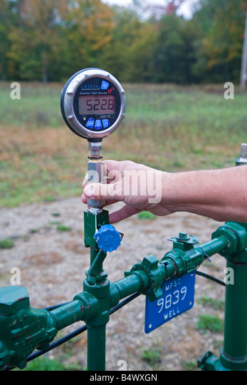 Natural Gas Well Meter : Energy meter stock photos images alamy