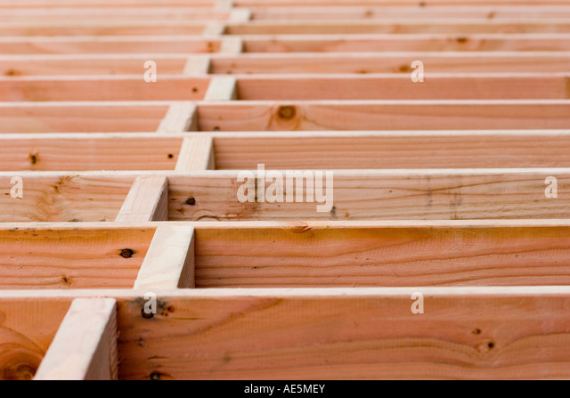 Floor joists stock photos floor joists stock images alamy for Wood floor joist construction