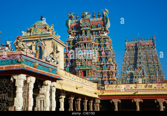 Sri Meenakshi temple, Madurai, Tamil Nadu, India, Asia - Stock Image
