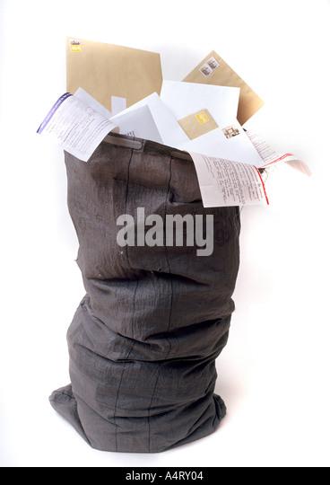 Royal Mail postbag - Stock Image