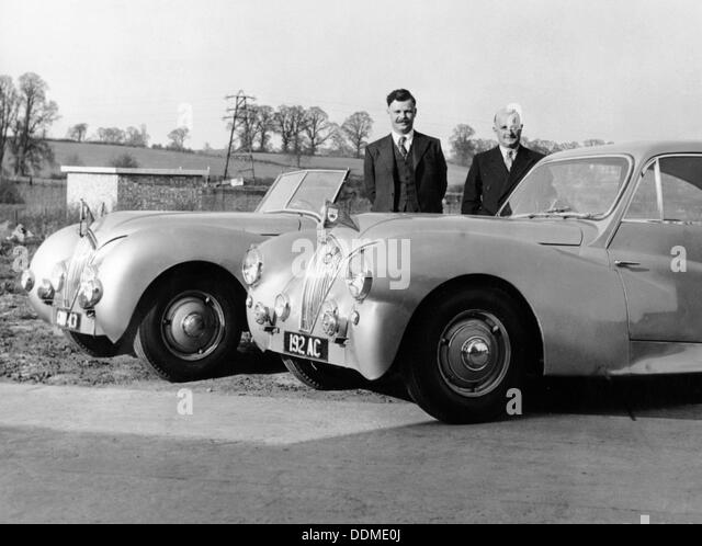 Geoff Healey (on the left), and Donald Healey, late 1940s. - Stock Image