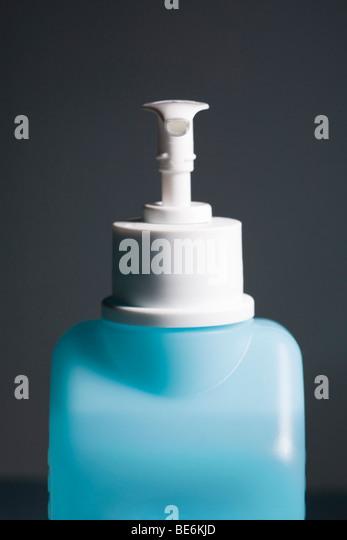 Hand sanitizer in pump bottle - Stock Image