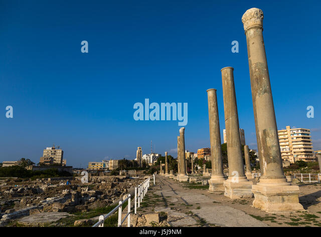 Al-Mina archaeological site, South Governorate, Tyre, Lebanon - Stock-Bilder