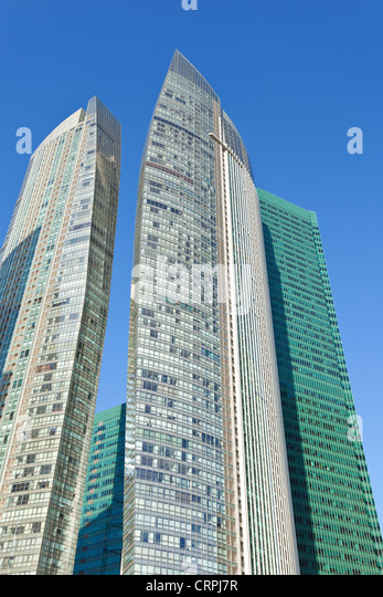 South East Asia, Singapore, Skyscrapers of the Financial Centre - Stock Image