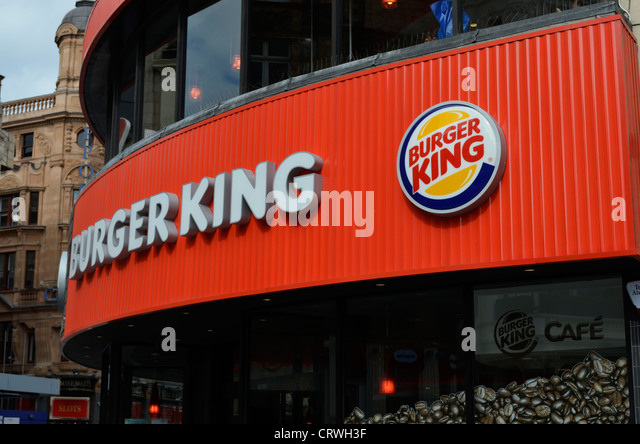 Burger King front Leicester square London - Stock Image