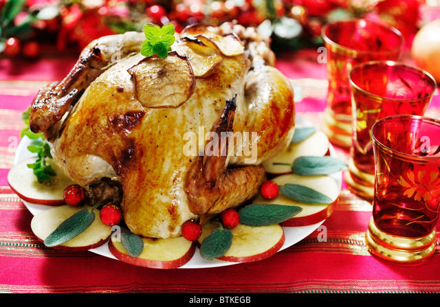 roast turkey - Stock Image