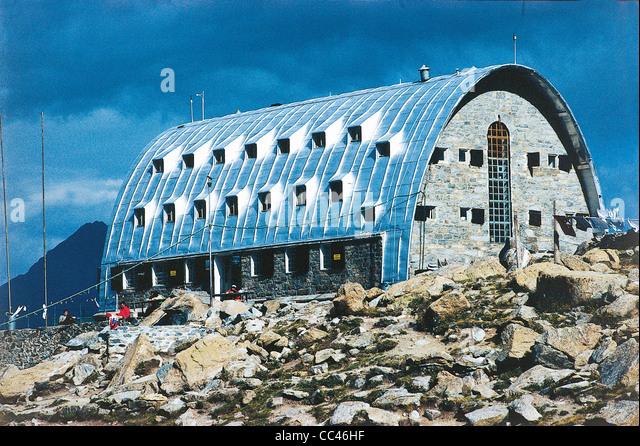 Valle D'Aosta Refuge Vittorio Emanuele - Stock Image