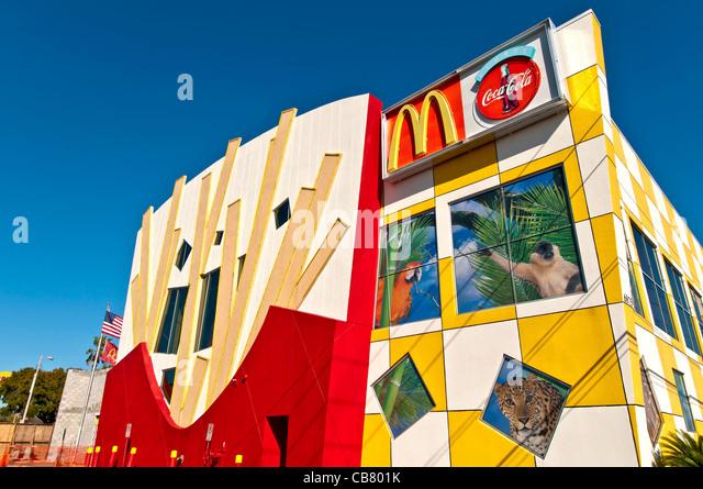 World's Largest Entertainment McDonalds & Play Place off International Drive, Orlando Florida - Stock Image