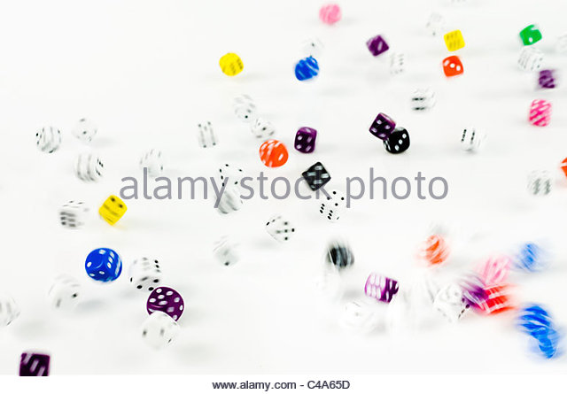 Rolling dice - Stock Image