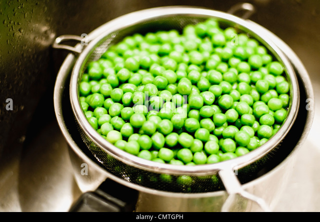 green peas - Stock Image