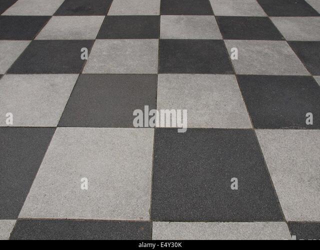 Checkered floor tiles stock photos checkered floor tiles for Checkered lino flooring