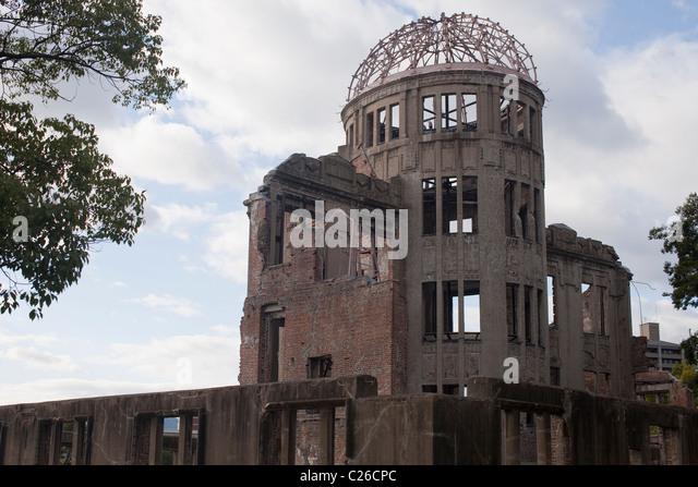 Genbaku Dome (Atomic Bomb Dome), Hiroshima Peace Memorial Park, Hiroshima, Japan - Stock Image