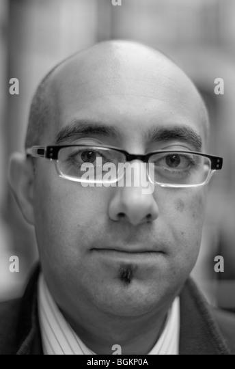 Faces of London- man in his thirties photographed in St James's London - Stock Image