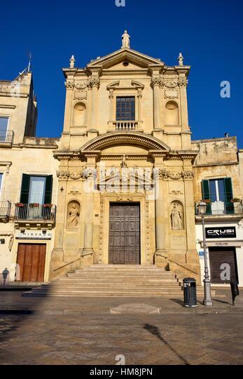 Chiesa di S. Maria delle Grazie (church) in Lecce, Apulia, Italy - Stock Image
