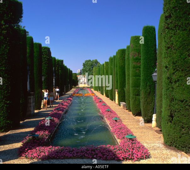 Spain Andalucia Seville Garden of Reales Alcasarez - Stock Image