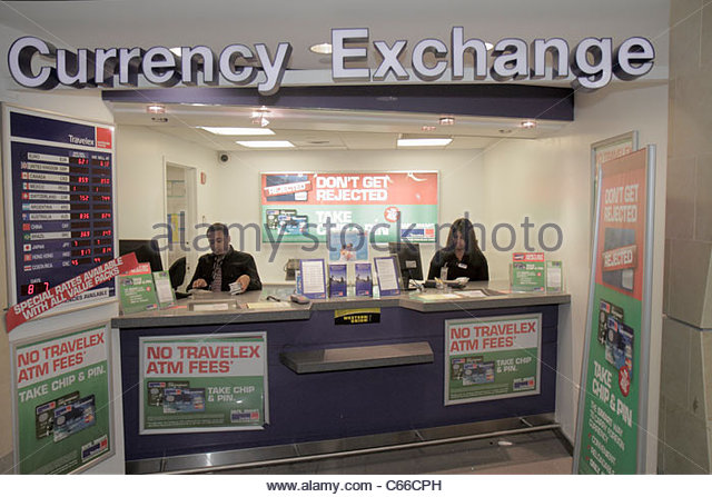 New York New York City NYC Queens JFK John F. Kennedy International Airport concourse terminal gate area business - Stock Image